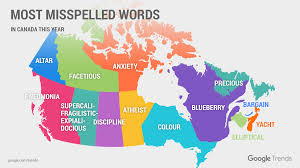 words in the word thanksgiving google says these are canada u0027s most misspelled words macleans ca
