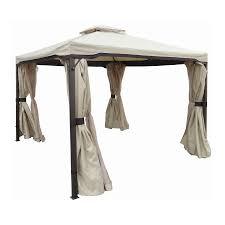 Lowes Gazebos Patio Furniture - garden allen roth black steel gazebo lowes gazebos and pergolas