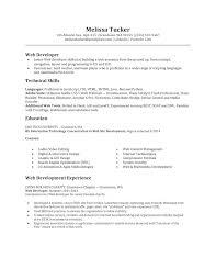 It Example Resume by Junior Web Developer Resume Haadyaooverbayresort Com