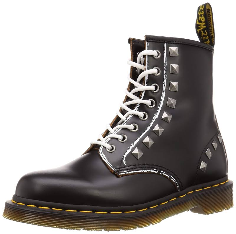 Dr. Martens 1460 Stud Black Leather Casual Dress Lace Up Boots Shoes