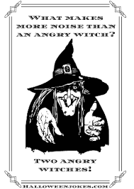 black and white halloween joke cartoon witch cpal