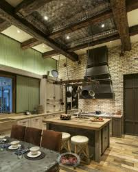 46 fabulous country kitchen designs ideas a rustic country kitchen mixed with industrial design for a thoroughly unique room the stone