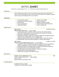 Resumes For Jobs Examples by Best Teacher Resume Example Livecareer