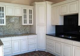 Off White Kitchen Cabinets With Black Countertops Great Painted Kitchen Cabinets Brick Subway Tile Backsplash Ideas