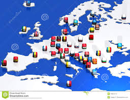 Blank Europe Map by Europe Map And Flags Royalty Free Stock Photo Image 18653175