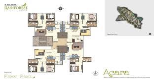 East Wing Floor Plan by Kanakia Rainforest Andheri East Marol Detailed Review