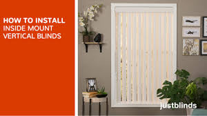 how to install inside mount vertical blinds justblinds com video