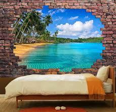 Golf Murals by Amazon Com Wall26 Large Wall Mural Tropical Beach Viewed