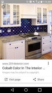 Blue Backsplash Kitchen 23 Best Backsplash And Decorative Wall Tile Images On Pinterest