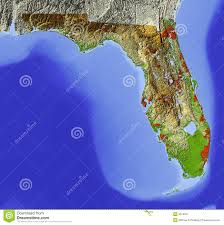 Map Florida Gulf Coast by Florida Shaded Relief Map Stock Image Image 5574521