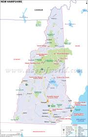Map Of The New England States by New Hampshire Map Showing The Major Travel Attractions Including