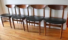 Mid Century Modern Dining Room Tables Mid Century Modern Dining Chair Set By Lane Picked Vintage