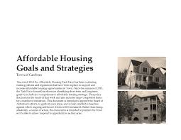 carrboro affordable housing plan goals and strategies carrboro