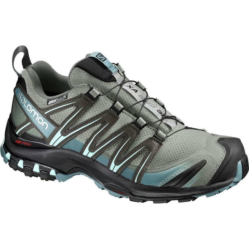 Salomon XA Pro 3D CS Waterproof Trail Running Shoe Shadow/Black/Artic 6 US Regular L39333500-6