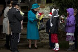 After     years  British monarchs can once again marry Catholics     Christian Science Monitor Britain     s Queen Elizabeth II smiles as she receives flowers from children after attending the British royal family     s traditional Christmas Day church