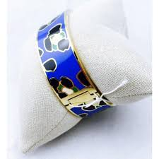 Blue Leopard Print by Kate Spade Gold And Blue Leopard Print Bangle Bracelet New With