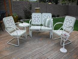 Spray Painting Metal Patio Furniture - restoring chairs wrought iron outdoor furniture all home decorations