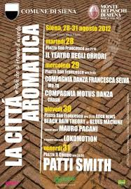 CITTA' AROMATICA 2012   SIENA (FROM AUGUST,28TH TO AUGUST, 31ST)