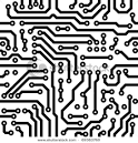 Monochrome Seamless Circuits on a Circuit Board – Vector Clip Art ... picturesof.net