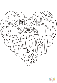 get well soon mom coloring page free printable coloring pages