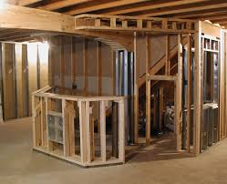 frame basement walls basements ideas