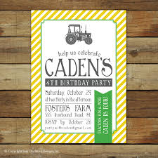 tractor birthday invitations plumegiant com