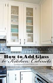 Diy Kitchen Cabinet Refacing How To Add Glass To Cabinet Doors Confessions Of A Serial Do It