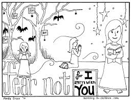 Printable Halloween Tracts by Free Coloring Page Teaches Kids That Faith Can Overcome Fear Http