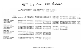 act released tests quantum act prep