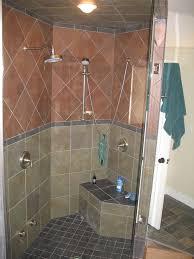 bathroom heavenly bathroom design ideas using cream mosaic tiled