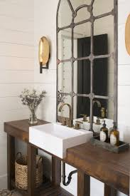 rustic glam bathroom mirror lighting interiordesignew com