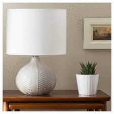 Target Copper Desk Lamp Herringbone Ceramic Table Lamp Gray Threshold Ceramic Table