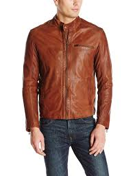 men s moto jacket cole haan men u0027s washed lamb leather perforated moto jacket at