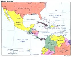 Latin America Map Labeled by South America Map Including Central America With Links To At South