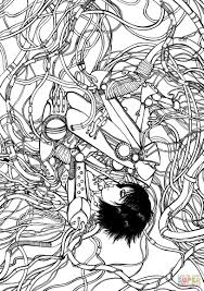 gally from gunnm battle angel alita coloring page free printable