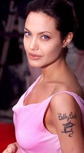 Angelina Jolie & Robbie Williams Tattoos - Most Popular Celebrity Tattoo Designs