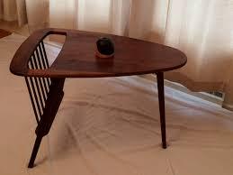 Retro Sofa Table by Table U0026 Magazine Rack Arthur Umanoff 3 Leg Design By