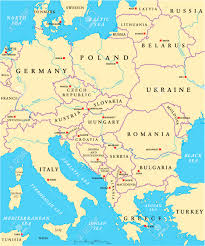 Political Map Europe by Central Europe Political Map With Capitals National Borders