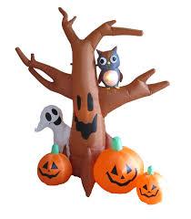 amazon com 4 foot halloween inflatable 3 jack o lanterns yard art