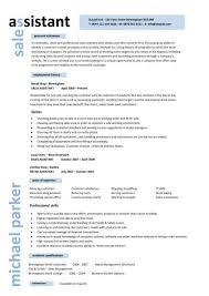 Sales assistant CV example  shop  store  resume  retail curriculum