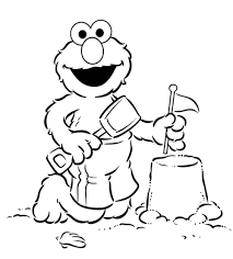 elmo halloween coloring pages elmo greeting us in sesame street