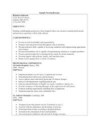 Sample Resume For Nurses Sle Nurse Resume Nursing Home Sample Sample Resume  For Company Nurse With     Alib