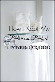 Renovating A Small Bathroom On A Budget Bathroom Remodel Under 10 000 Home With Keki