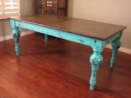 European Dining Room Furniture European Paint Finishes Rustic Turquoise Dining Table