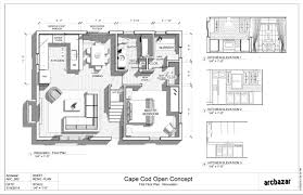 nice cape cod plans open floor 7 houseplans webshoz com