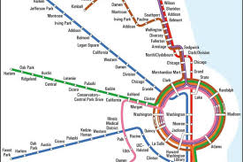 Chicago Line Map by Subway Maps Never Stop Designs Are Always In Motion Curbed Chicago
