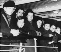 Jewish children in transport