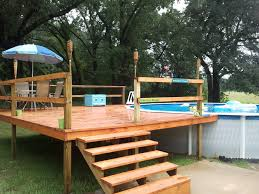 above ground pool deck kits our agp and deck install u2022 above