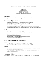 Resume Samples For Jobs In Usa by Environmental Science Resume Sample Http Www Resumecareer Info