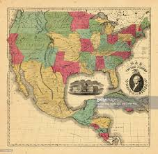 Unite States Map by Central America North America Mexico United States 1852 Map Of The